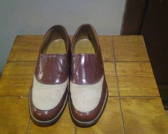 Hanover Foot Gluvs Brown Shoes Made In USA 8.5