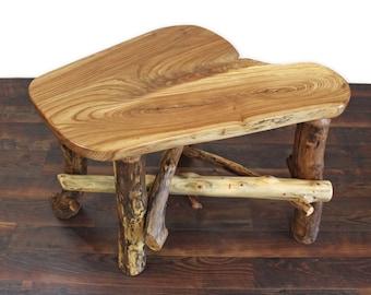 Rustic End Table, Reclaimed Wood Table, Rustic Side Table, Salvaged Wood Table, Wood Slab Table, Cabin Furniture, Rustic Furniture