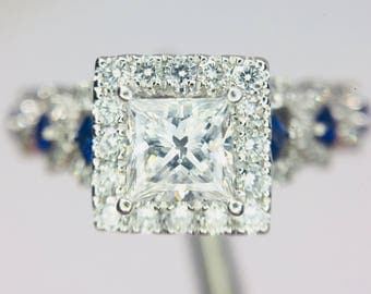 Vera Wang 'Love Collection' Diamond and Sapphire Ring