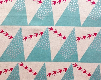 Hill in Aqua - Echino by Kokka Cotton Canvas Fabric Fat Quarter