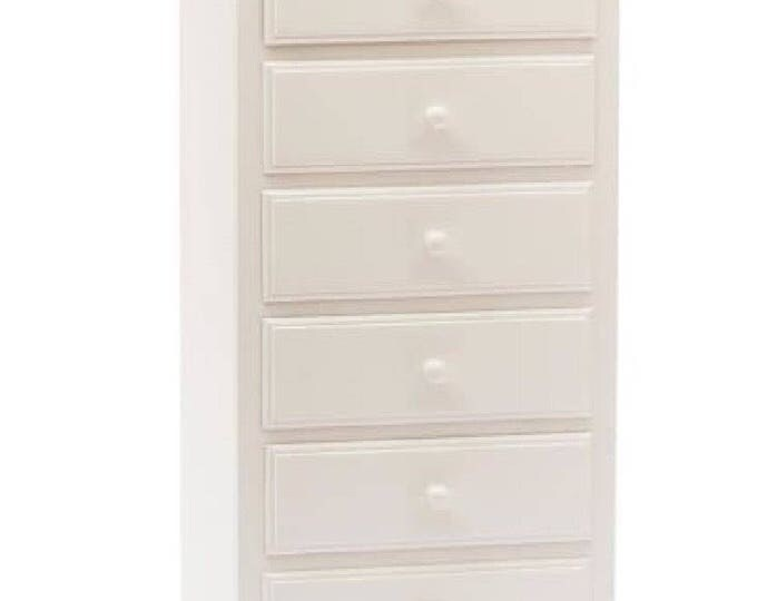 """White wood chest of drawers """"EMY"""""""