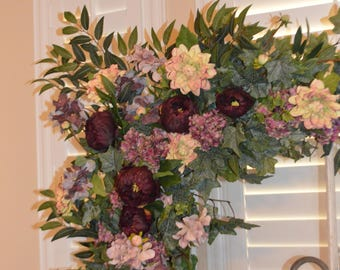 Wedding Arch, Wedding Archway Swag, Wedding Ceremony Swag, Wedding Arch flowers, Peony Rose Arch,Peony Arch, Mantle Swag