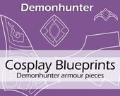 Digital cosplay costume blueprints/patterns 'World of Warcraft, WOW, Demonhunter Worbla armour/armor pieces' by Pretzl Cosplay - PDF