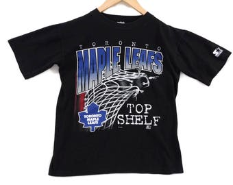 VTG Toronto Maple Leafs Starter T-Shirt - Small - NHL - Hockey - Toronto Sports - Ontario - 90s Clothing - Vintage Tee - Vintage Clothing -