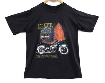 VTG 80s Harley Davidson T-Shirt - Large - Holoubek - Vancouver - Biker Shirt - Motorcycle Clothing - Vintage Tee - Vintage Clothing -