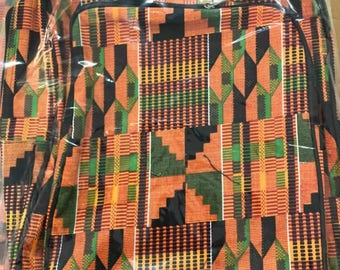 African Kente Cloth Backpack