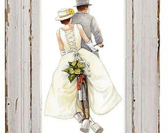 PDF cross stitch: Love wedding