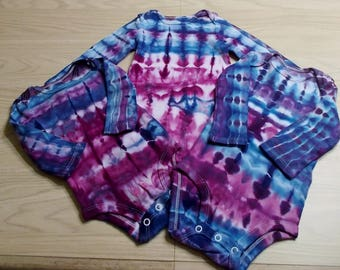 Ice-Dyed tie dyed Onesies