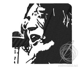 John Lennon - Machine Embroidery Design - Instant Download - Four sizes
