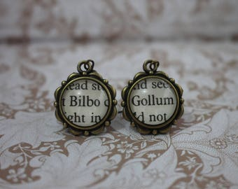 Bilbo ~ Gollum Earrings ~ The Hobbit ~ The Lord Of The Rings ~ J.R.R Tolkien ~