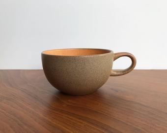 Vintage Heath Ceramics Coupe Tea Cup in Pumpkin Glaze