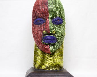 Beaded Ife Head