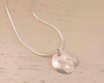Silver Coin Necklace - Silver Disc Necklace - Dainty Silver Necklace - Thin Silver Necklace - Minimal Silver Necklace - Minimalist Jewelry