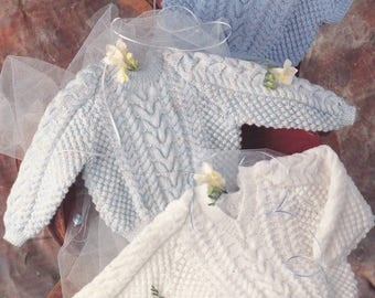 PDF baby sweater pattern round neck v neck vintage knitting pattern pdf INSTANT download only slipover