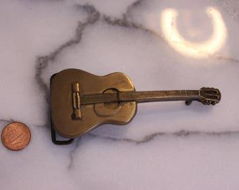 Vintage Solid Brass Guitar Belt Buckle BBB