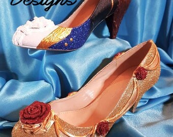 Bespoke Custom made Beauty and the Beast Heel's