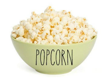 Rae Dunn Inspired Popcorn Bowl Decal