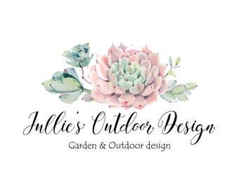 Logo Design-Succulent logo-Cactus logo-Photography Logo-Small Business Logo-Flower logo-Premade logo