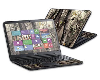 Mightyskins Protective Skin Decal Cover for Dell Inspiron 15 i15RV Laptop 15.6 Released 2013 wrap sticker skins Tree Camo