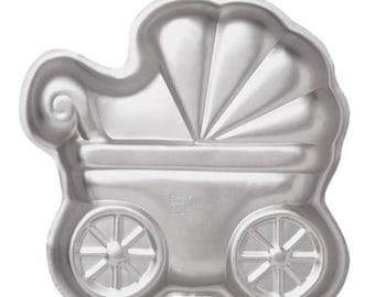 WILTON mold pram - Wilton Baby Buggy Pan