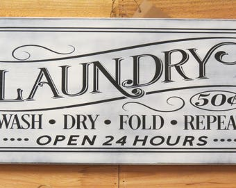 Hanging Laundry Sign Hanging Laundry Sign  Etsy