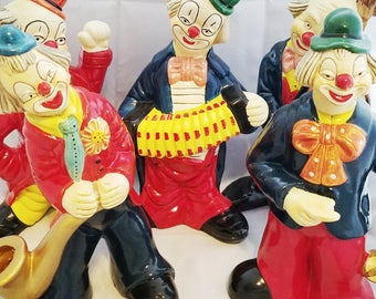 Musician Clown Figurines Set of 5 - FREE Shipping!