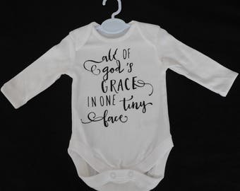 Baby's Bodysuit with Christian Slogan