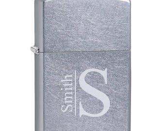 Personalized Street Chrome Zippo Lighter - Personalized Zippo Lighter - Zippo Lighters - Gifts for Him - Men - Groomsmen Gifts -GC207