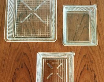 Vintage photography trays / developing trays / darkroom development trays