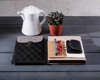 iPad mini sleeve for ipad mini Tablet sleeve Leather iPad case Genuine leather ipad case Wool felt case ipad sleeve ipad mini cover case