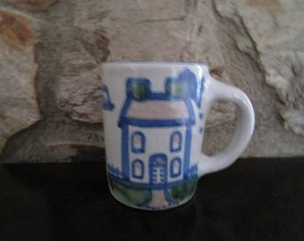 M.A. Hadley Coffee Cup with House and Ship