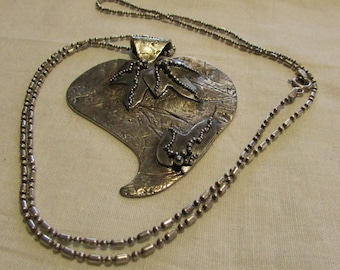 Sterling Silver Necklace Signed Mehlers