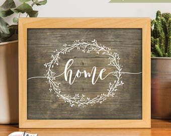Rustic Home Decor, Printable Wall Art, Home Sweet Home Sign, Farmhouse Decor, Home Print, Home Sign, Farmhouse Wall Decor, Housewarming