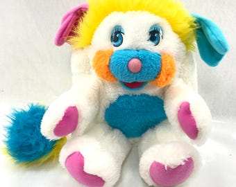 NICE! Vintage 80s Puffball Popples Popple Plush Stuffed Animal Toy #35