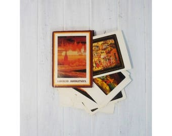 "Set of postcards ""Lacquer miniature"" / Комплект открыток ""Лаковая миниатюра"""