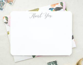 Thank You Cards Set. Set of Floral Thank You Cards. Wedding Thank Yous. Wedding Card Set. Floral Wedding Shower Thank You Cards.