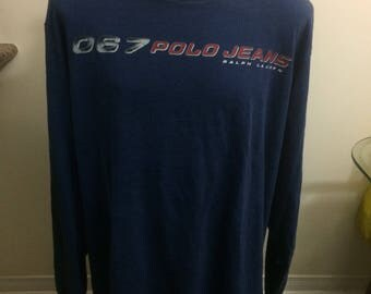 Vintage polo jeans co long Sleeve t shirt size 4xl