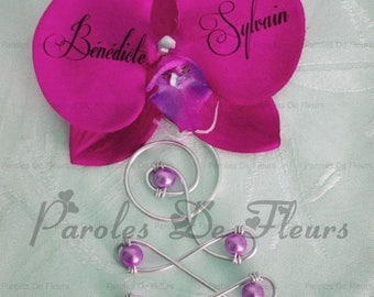 Attached train fuchsia Orchid and aluminum to customize