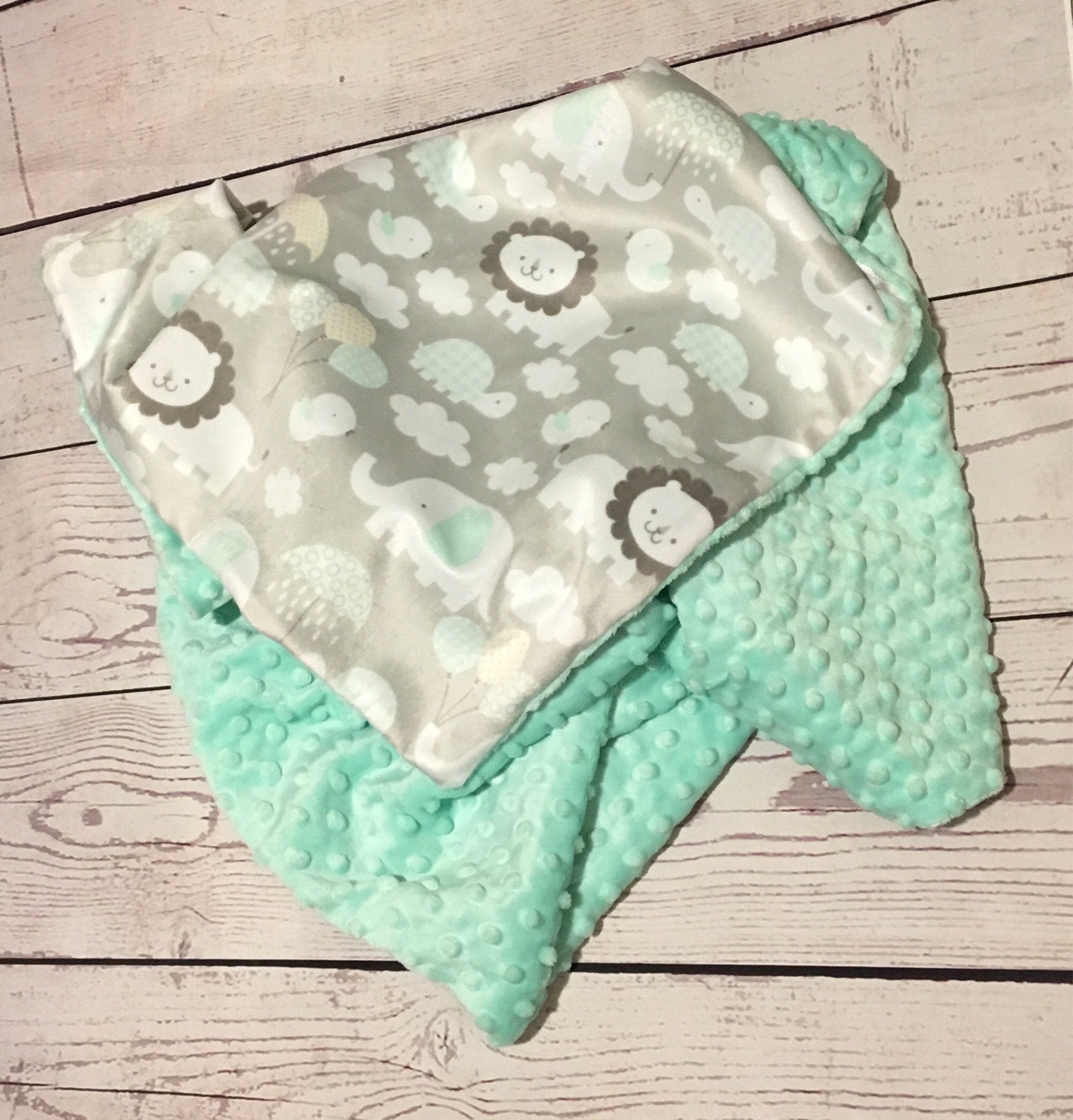 Personalized baby blankethandmade baby blanketgender neutralmint personalized baby blankethandmade baby blanketgender neutralmint green minky dot negle Gallery