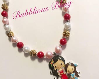 Alayna and Isabella Chunky Bubblegum Necklace