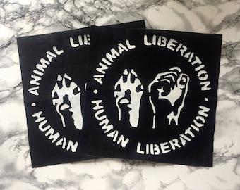 Animal Liberation Human Liberation Back Patch