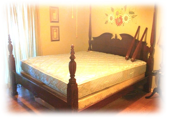 AUTHENTIC RICE BED . Reduced For Quick Sale . . King Size . . . Mattress & Box Springs are Free . .