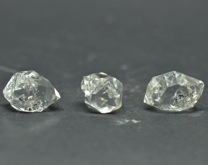 Enhydro Herkimer Diamond Quartz X 3 PIECES  - HD02