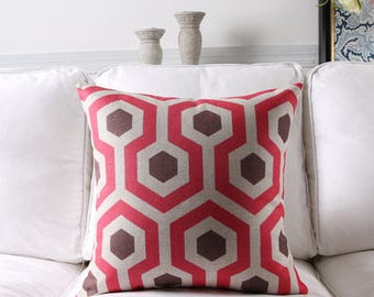 Decorative pillow, cushion cover red decorative pattern home throw pillow shell customized size