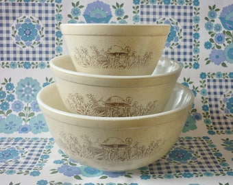 Set Of Three Forest fancies Nesting Bowls