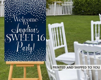 Sweet 16 Party Welcome Sign - Welcome to the Party Sign - 16th Birthday Welcome Sign, Foam Board Welcome Sign, Printed Welcome Sign