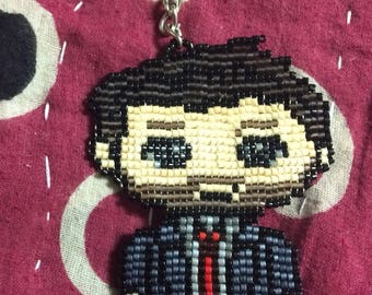Crowley-supernatural beaded keychain