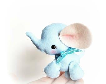 Baby Elephant PDF sewing pattern-DIY-Elephant toy pattern-Wild animals-Nursery decor-Instant download-Baby's mobile toy-Felt Elephant