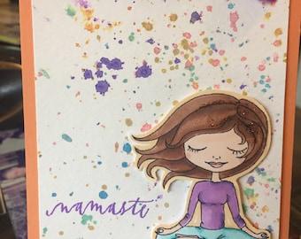 namaste - Yoga Card handmade