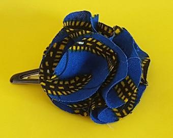 African wax blue hair Barrette
